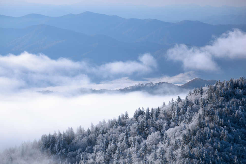 smoky mountains snow